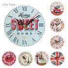 ISHOWTIENDA New 1pc 12cm Vintage Style Silent Antique Wall Clock Wood Battery Powered Reloj De Pared De Estilo Vintage Wholesale