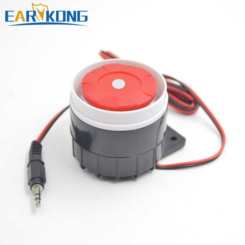 Wired Siren Work At DC 12V, For GSM / G90B / Wifi / Home Burglar Alarm System, Very loud, Scare away the thiefWired Siren Work At DC 12V, For GSM / G90B / Wifi / Home Burglar Alarm System, Very loud, Scare away the thief