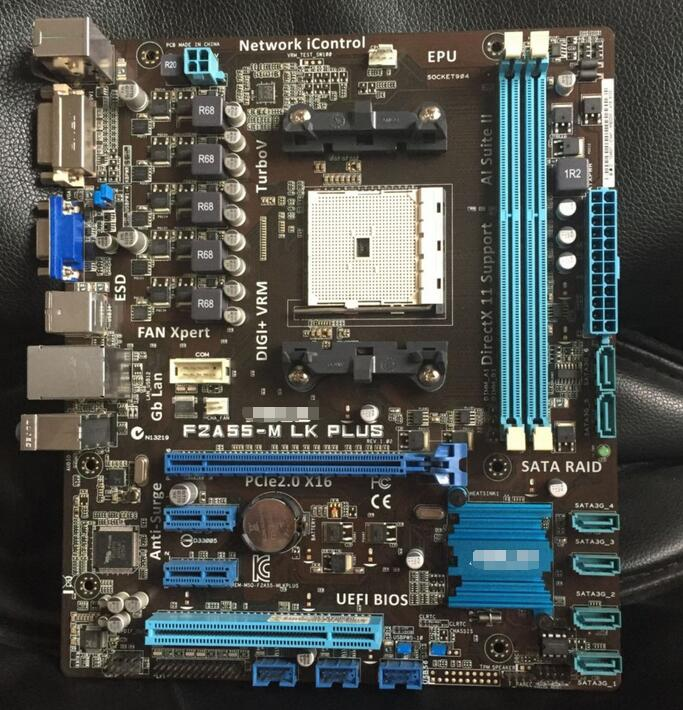 FM2 motherboard Used original for ASUS F2A55-M LK PLUS A55 FM2 DDR3 32G support 760K 530