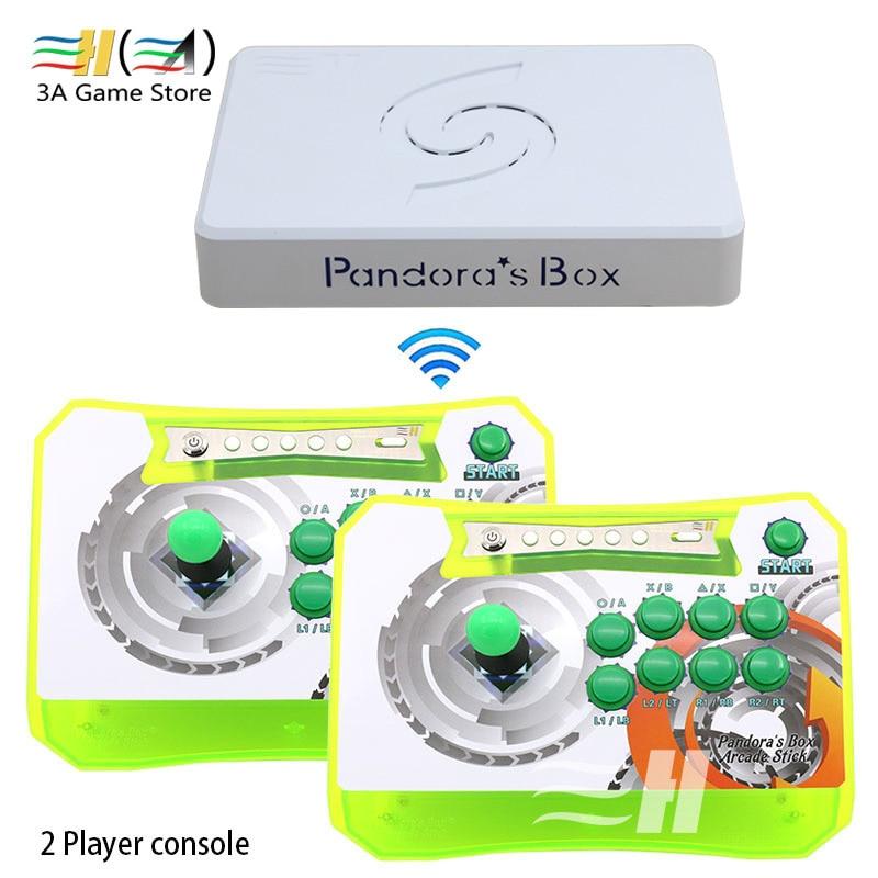 Boîte de pandore 6 Sans Fil Arcade Stick Console Ensemble Pandora Boîte 6 1300 dans 1 Multi Plateau De Jeu PS3 PC arcade Contrôleur Console 3d