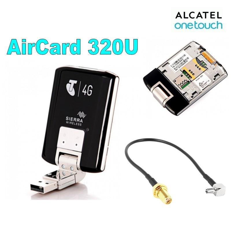 Unlocked Wireless USB Modem Sierra Aircard 320U 100Mbps 4G LTE 1800 2600Mhz External Antenna Adapter Cable