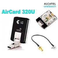 Unlocked Wireless USB Modem Sierra Aircard 320U 100Mbps 4G LTE 1800/2600Mhz+External Antenna Adapter Cable