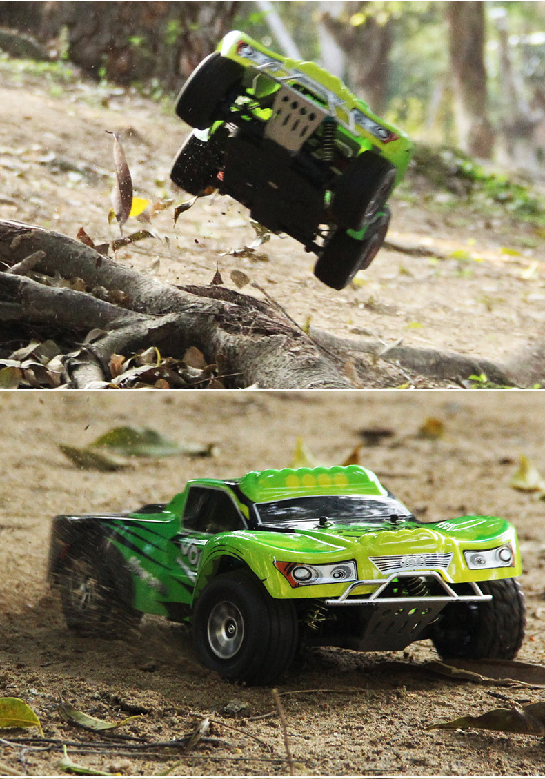A969 High Speed RC Cars 2.4G 1/18 Scale Remote Control Short Course Truck with 4-wheel Shock Absorbers RC Car