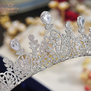 Image 5 - Bavoen Fashion CZ Crystal Brides Crown Tiara Princess Headband For Brides Wedding Hair Accessories Evening Hair Jewelry