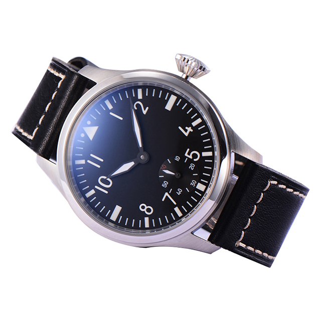 Parnis Mens Business Seperate Second Dial Classic Dress Mechanical Hand Wind Wrist Watches - 5