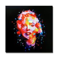 High Quality Women Image Photo Handpainted Portrait Oil Painting Modern Pop Art Living Room Decor Nice Decorative Painting