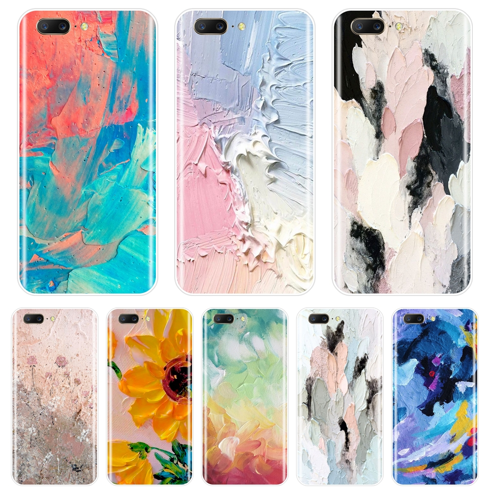 <font><b>Phone</b></font> <font><b>Case</b></font> For <font><b>One</b></font> <font><b>Plus</b></font> <font><b>6</b></font> 6T 5 5T 3 3T Silicone Art Abstract Sunflower Graffiti Aesthetic Back Cover For OnePlus <font><b>6</b></font> 6T 5 5T 3 3T image