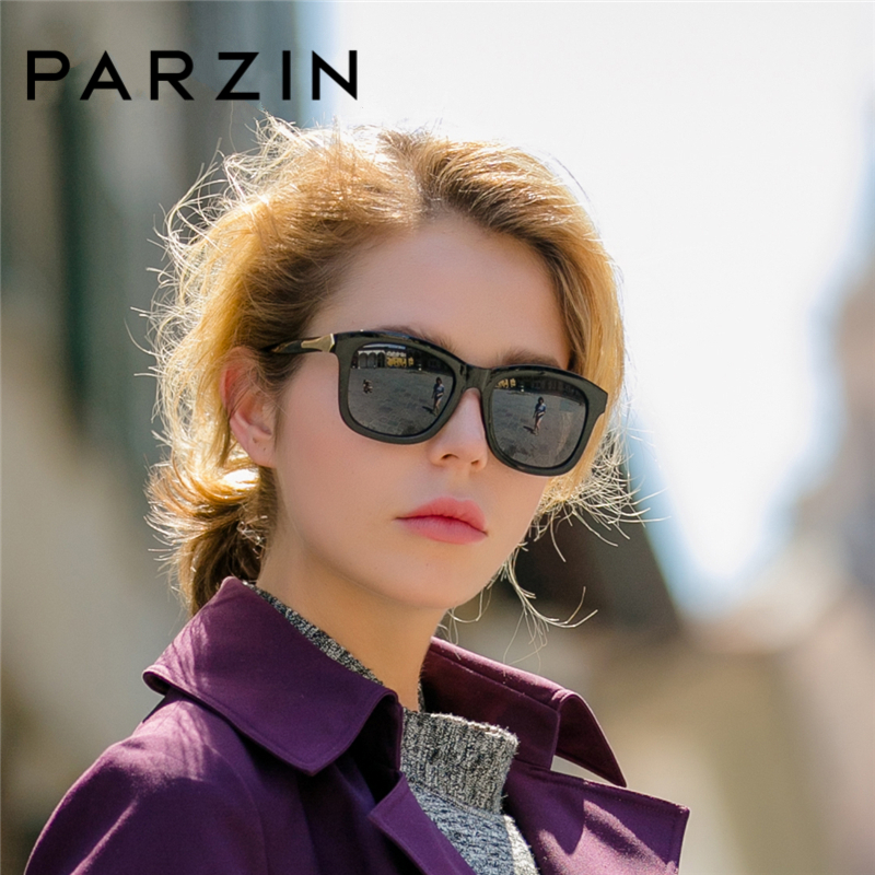 PARZIN Fashion Polarized Sunglasses Women Lovers Beach Sun Shade Luxury Brand Driving Sun Glasses Retro Square Lens UV400-in Women's Sunglasses from Apparel Accessories