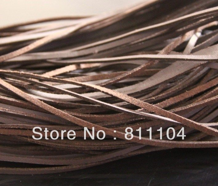 3mm Dark Brown ONE SIDE Flat Faux Suede Leather Lace Cord DIY Rope For DIY Leatherwork