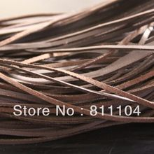 3mm Dark Brown ONE SIDE Flat Faux Suede Leather Lace Cord DI
