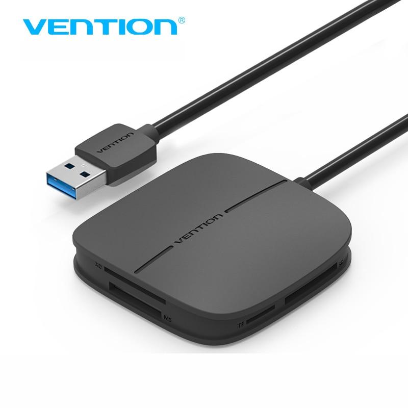 Vention todo en 1 USB 3,0 lector de tarjetas Multi lector de tarjetas de memoria USB para TF para SD para CF para MS soporte adaptador de la tarjeta 256G