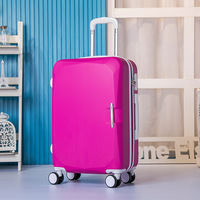 New 22 inch ABS rod box universal wheel suitcases children boarding students box multicolor pure color suitcase 1580#