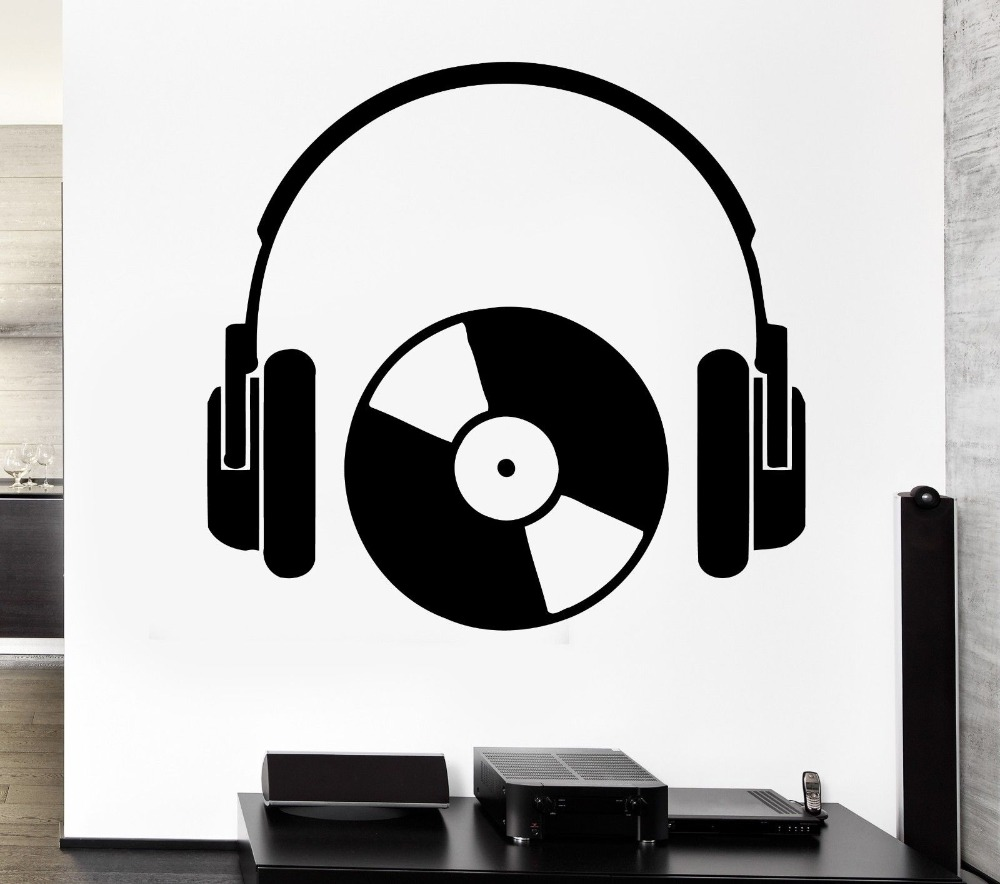 compare prices on wall stickers stickers cool online shopping buy hippop style headphone music series wall sticker vinyl cool rock headphone with cd art design wall