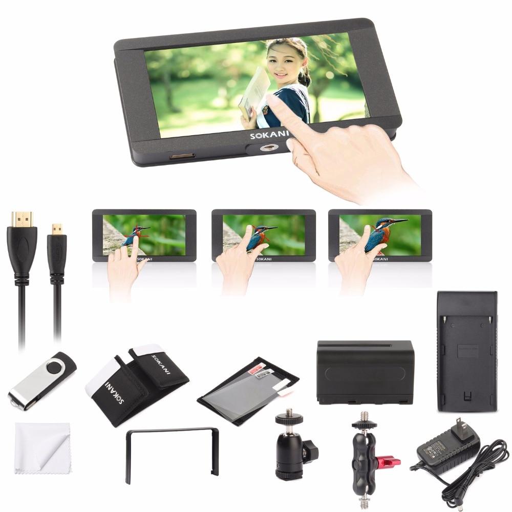 Sokani SK-5 5 4K Signal Support & Touch Screen 1920 x 1080 HDMI On-Camera LCD Field Camera Video Monitor for Sony Zhiyun Crane видеокамера sony fdr x1000v 4k