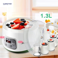 ZCW S03 Fully Automatic Yogurt Makers Household Multifunctional White Natto Rice Wine Machine With Four Glass
