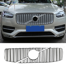 For Volvo Xc90 2016 2017 Abs Mattle Chrome Front Per Grille Moulding Cover Trim Car