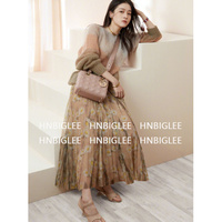 CCCC Женская плиссированная длинная юбка из тюля с высокой талией Цветочные Boho макси юбки элегантные Jupe Femme с шелком