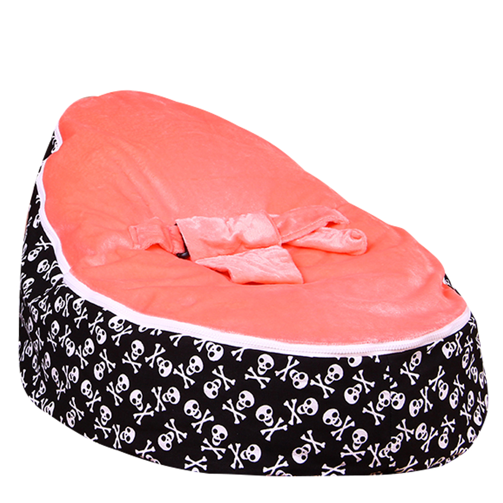 Levmoon Medium Skull Print Bean Bag Chair Kids Bed For Sleeping Portable Folding  Child Seat Sofa Zac Without The Filler #2