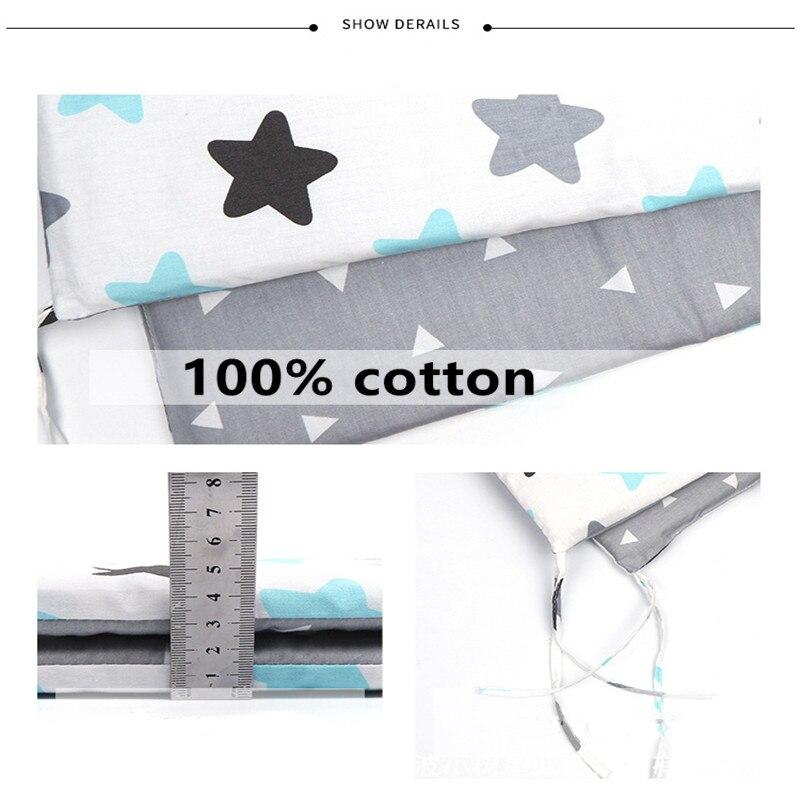 Детская кровать с скандинавскими звездами, уплотненный бампер, цельная кроватка, защита для кроватки, подушки для новорожденных, декор для комнаты 3