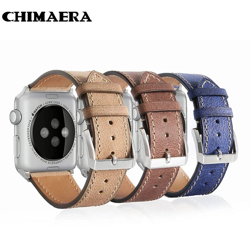 CHIMAERA  Genuine Leather Fashion Replacement Strap for Apple Watch series1 and series2 for Iwatch  for Apple watch band 42mm цены онлайн