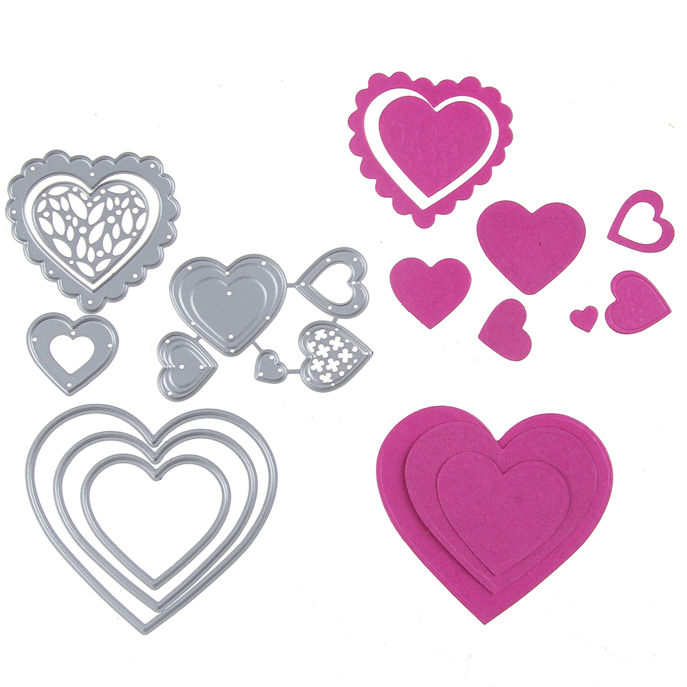 6.3*7cm New scrapbooking DIY cute love lace shape steel cutting die sweet wedding Book photo album art card cake Dies Cut