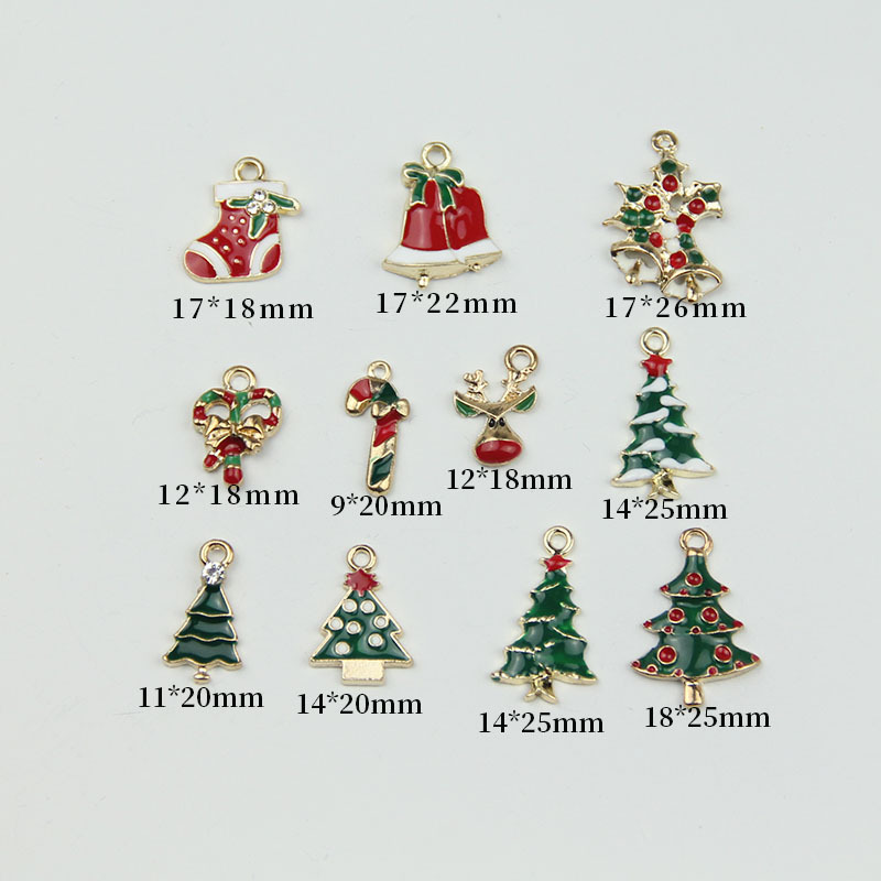 10pcs Christmas Style Tree Bell Enamel Charms DIY Earring Bracelet Hair Necklace DIY Jewelry Making Charms Christmas Gifts YZ535 in Charms from Jewelry Accessories