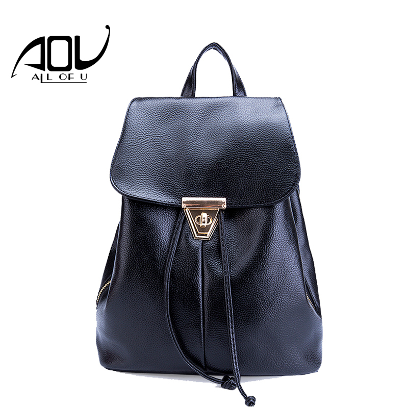 Hot sale college wind schoolbag washed PU leather backpack woman Korean tidal fashion leisure travel bag Boutique backpacks