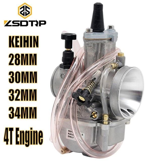 US $21 44 35% OFF ZSDTRP Keihin Carburetor Motorcycle Racing Parts Scooters  Dirt Bike ATV 28 30 32 34mm with Power Jet Used 75cc 300cc-in Carburetor