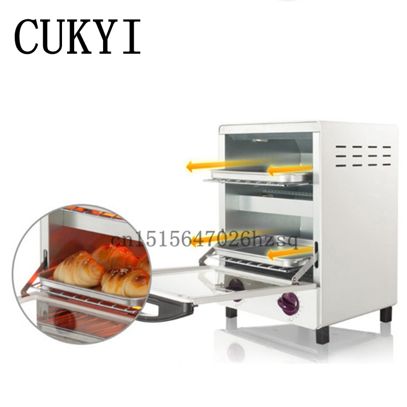CUKYI Mini vertical electric Multi-functional Baking ovens 12L Capacity 1050W with 30 Minutes Timer Home baking цена