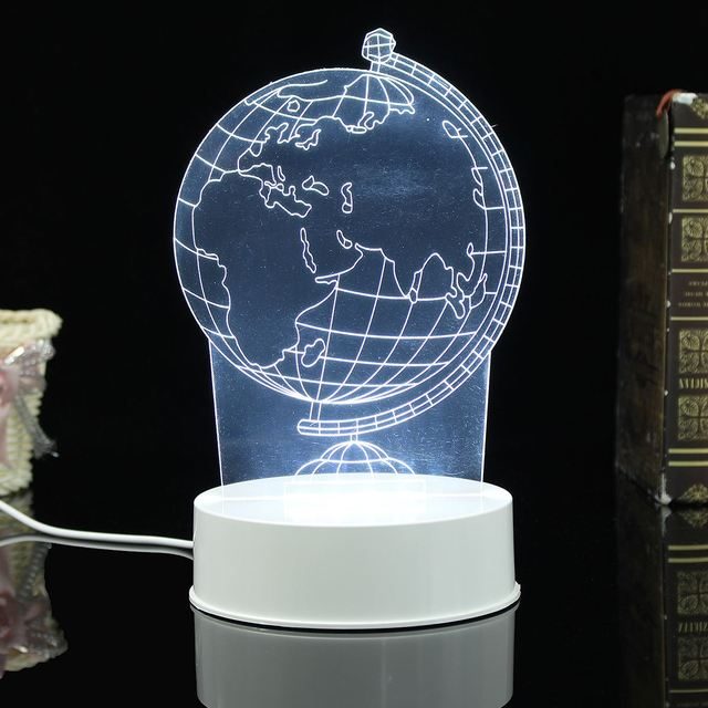 3d earth acrylic led night light map globe nightlight desk table lamp bedside lamp child kids