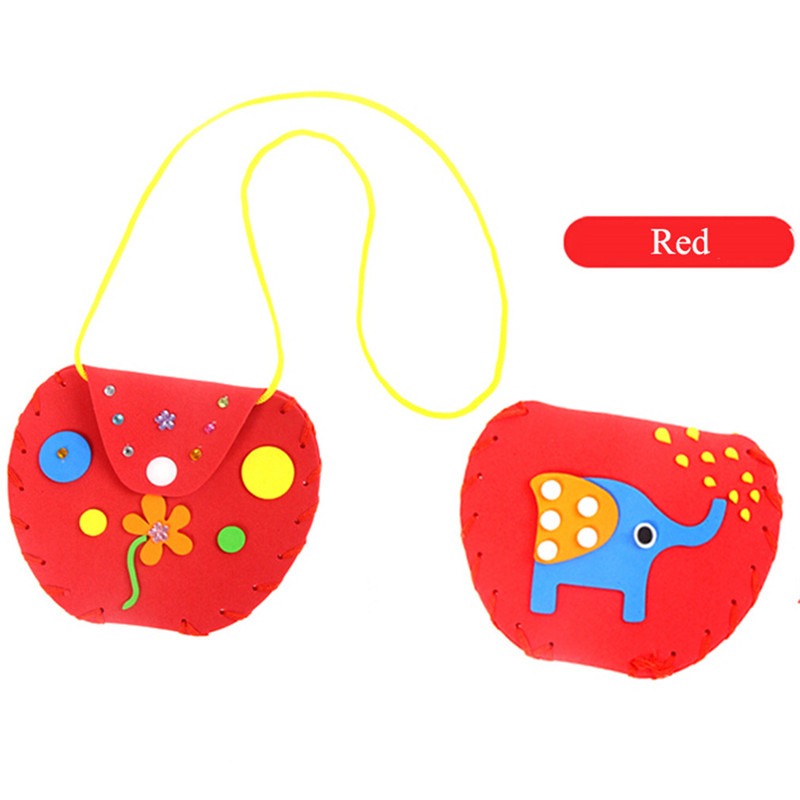 New Children DIY Handmade Material Package Kindergarten Creative Wallet Sewing Bag Toys Baby Education Puzzle Intellectual Toys
