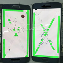 Little spot screen for phone Galaxy S6 edge G925 LCD Display Touch Screen replacement install repair without frame