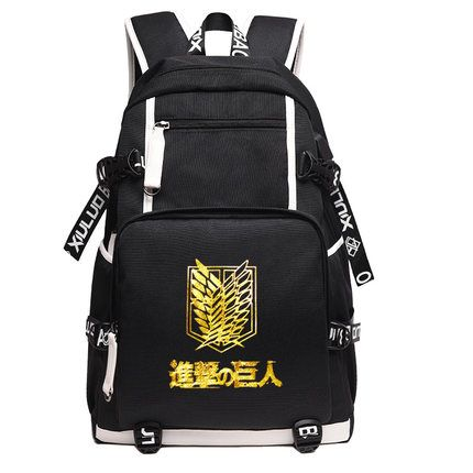 Anime Attack On Titan Canvas USB Charge Backpacks Unisex Shingeki no Kyojin Schoolbag Mochila Escolar Large Rucksack 020609 недорго, оригинальная цена