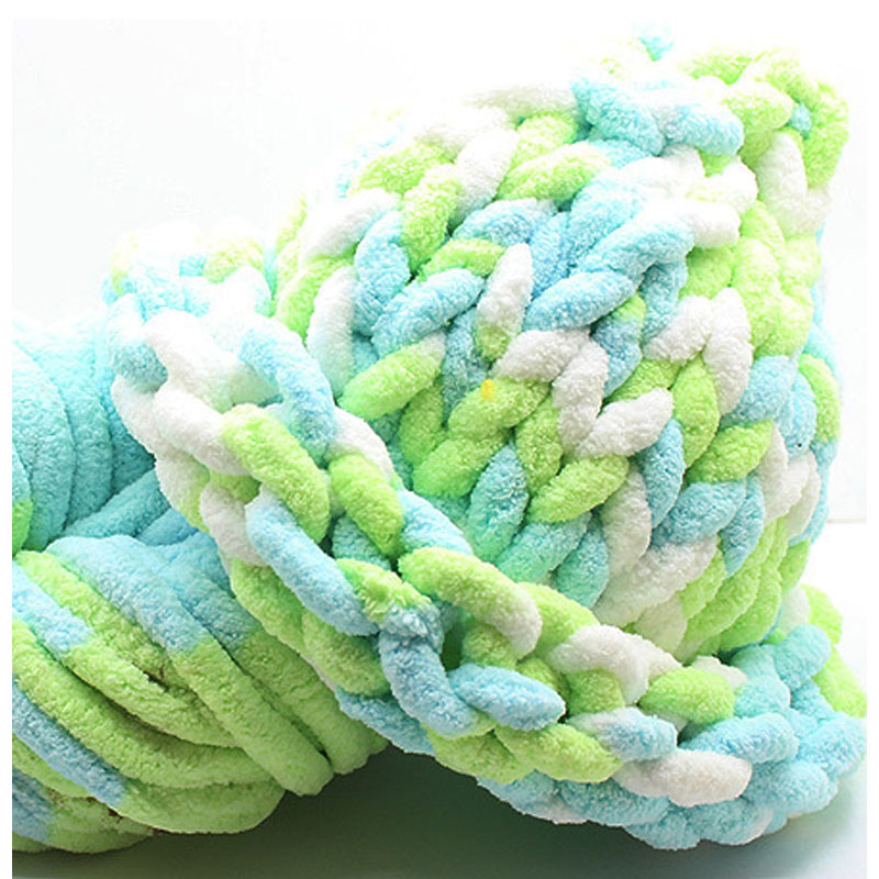 Hand Knitting Yarn Design : G soft super thick chenille yarn for hand knitting