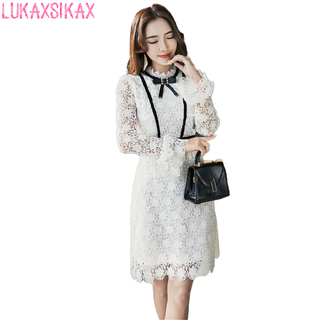 788dbb1cadce9 2018 New Women Spring Summer Dress High-end Custom Self Portrait White Lace  Runway Dress Luxury Designer Party Dresses Vestidos