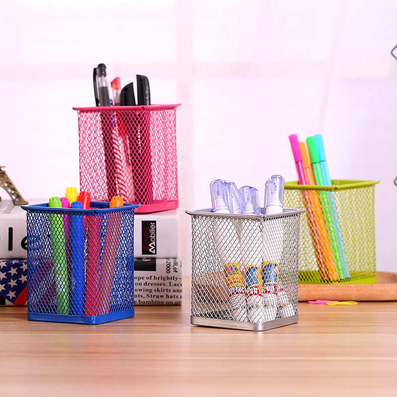 1 PC ラウンド化粧品鉛筆ペンホルダーオフィスオーガナイザー文房具コンテナオフィス用品デスクオーガナイザー収納