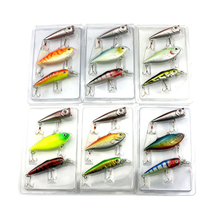 1 pack of 18pcs/lot Colorful Fishing Lures Artificial baits tackle 3D Fish Eyes with Hooks Fishing accessory