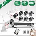 Videovigilância Kit 8CH H.264 NVR 3 TB HDD HD 2MP bala Sem Fio WI-FI de Rede IP Câmera 1080 P CCTV Câmera À Prova D' Água sistema