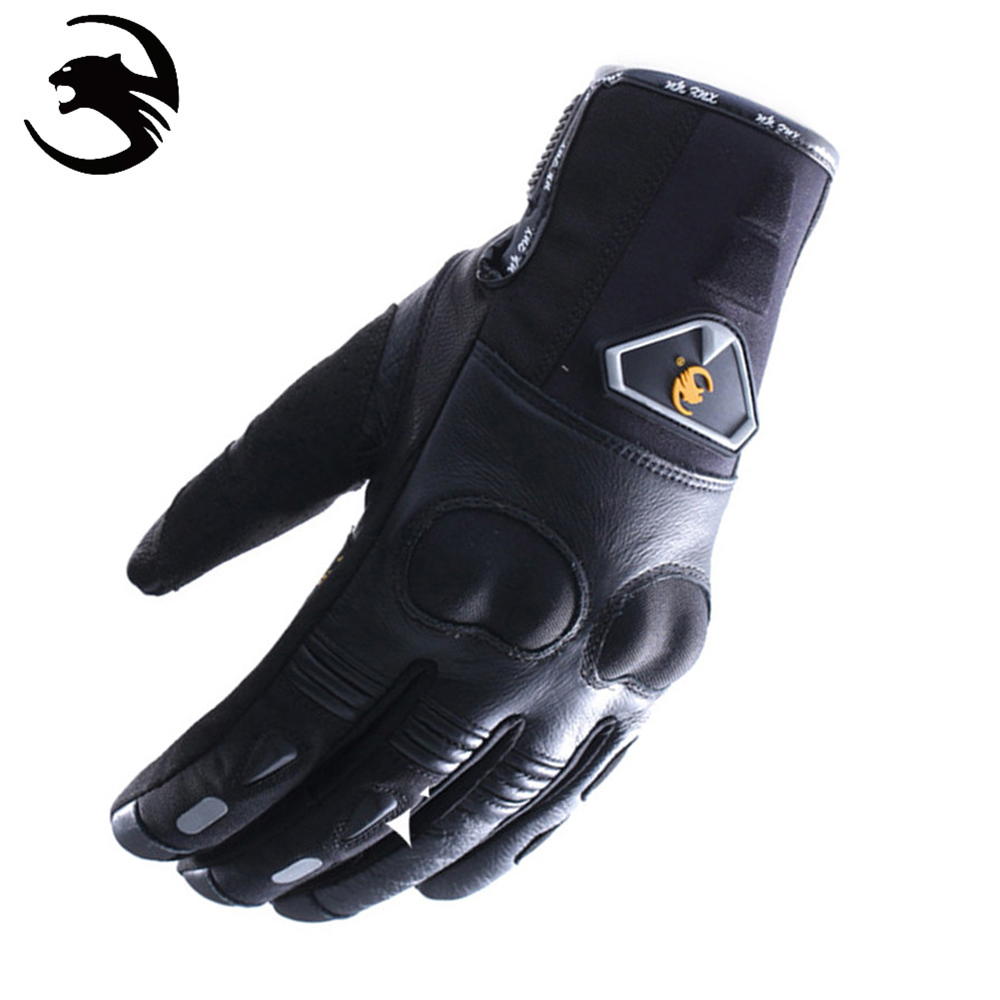 Motorcycle gloves thin - New Xueyu Motorcycle Gloves Leather Summer Winter Leather Motorcycle Protective Gear Full Finger Gloves Motorcycle Winter Gloves