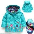 Girls Long Sleeve Windbreak Girl Floral Waterproof Jacket Kid Anorak children
