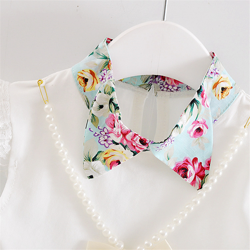 2019 New Summer Children Necklace Clothing Sets Girl T Shirt Skirt 2pcs/Sets Fashion Baby Floral Suits Infant Casual Outfit
