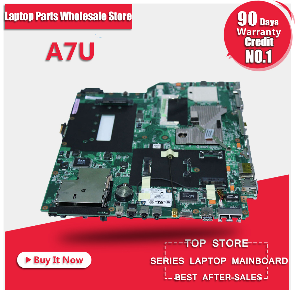 100% Origional Laptop motherboard A7U for asus 90days warranty 45 days warranty laptop motherboard for asus k53b la 7322p with 4 video chips non integrated graphics card 100