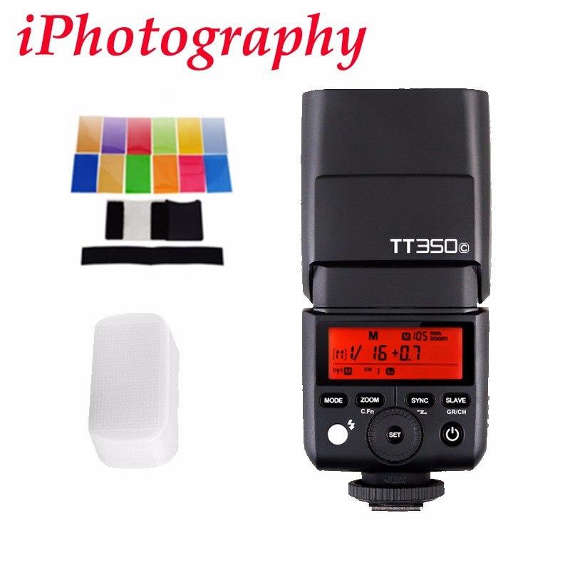 Godox TT350C 2.4G HSS 1/8000 s TTL Sans Fil Flash Speedlite pour Canon M2 M5 M6 5D Mark III 80D 70D 760D 6D 77D 800D 7D 1300D 550D