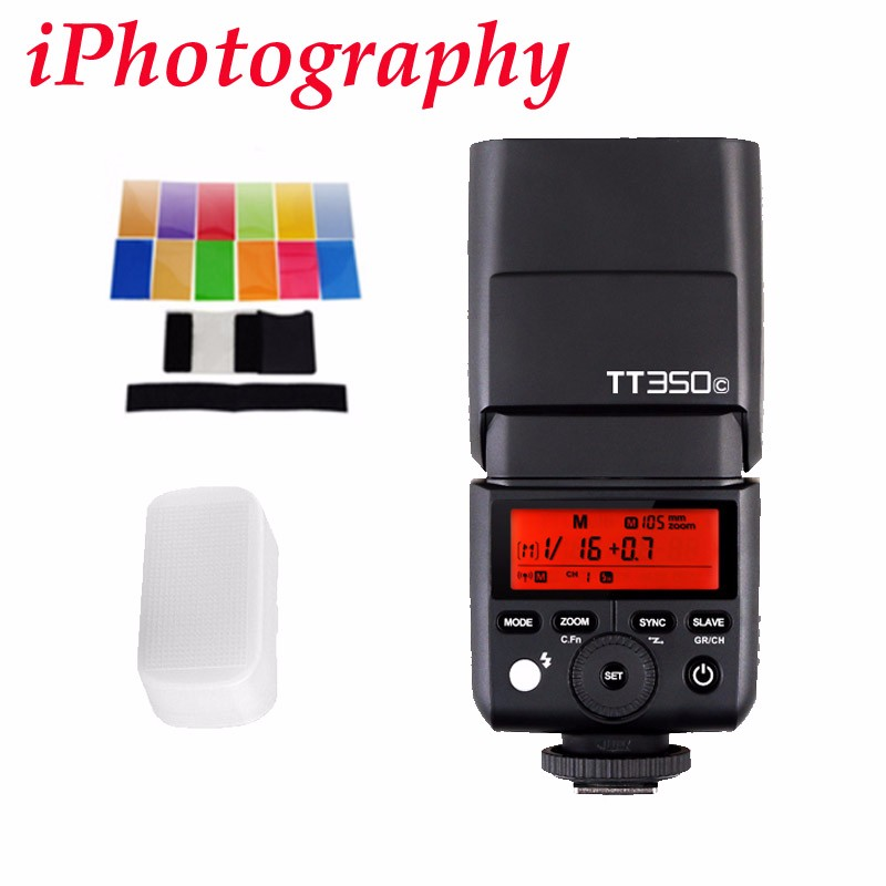Godox TT350C 2.4G HSS 1/8000s TTL Wireless Speedlite Flash for Canon M2 M5 M6 5D Mark III 80D 70D 760D 6D 77D 800D 7D 1300D 550D yongnuo yn568ex iii wireless ttl sync 1 8000s hss flash speedlite for canon 1dx 1ds 5d mark iii iv 70d 80d 7d 6d 700d 750d