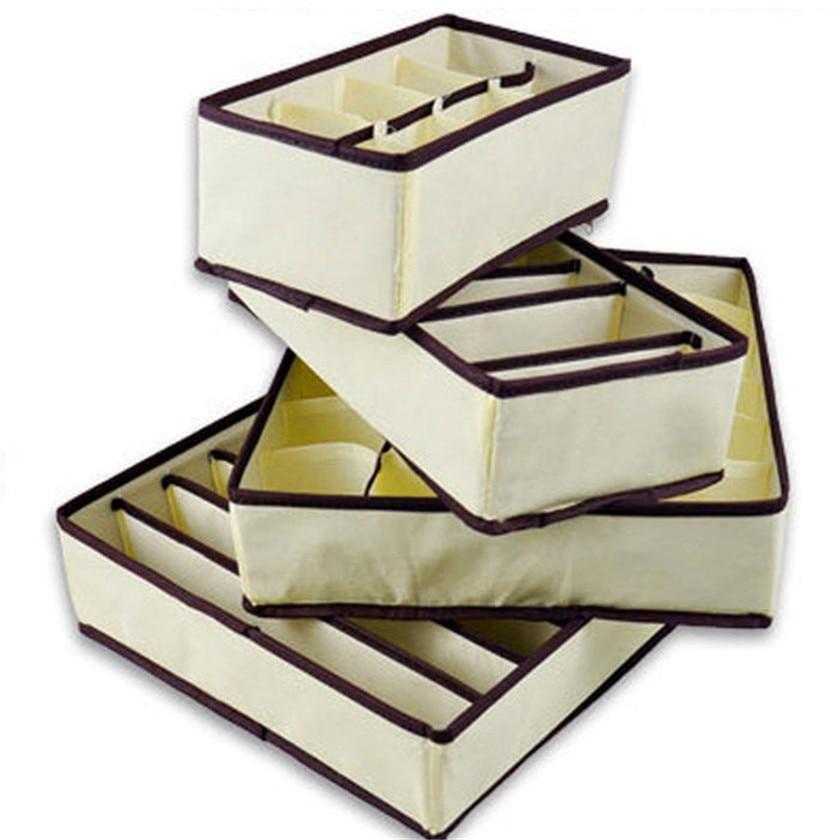 Дропшиппинг 4 шт./компл. цветок складной ящик для хранения для нижнего белья Носок Бюстгальтер Галстуки Дело № 0718