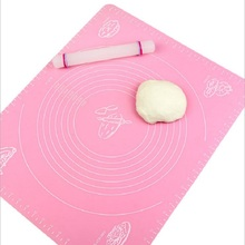 50*40cm Silicone Mat Baking Cake Dough Fondant Rolling Kneading Mat Baking Mat With Scale Cooking Plate Table Grill Pad Kitchen