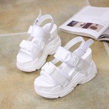купить Summer sandals women flat Shoes peep-toe Roman sandals woman casual shoes Ladies Flip Flops Footwear platform shoes Wedges по цене 1553.55 рублей