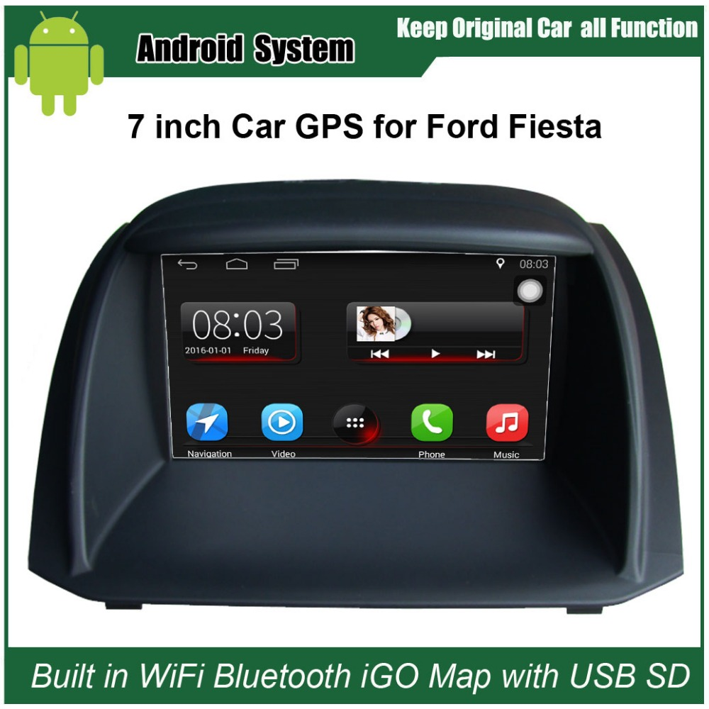 Upgraded Original Car Radio Player Suit to Ford Fiesta Car Video Player Built in WiFi GPS