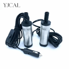 цена на Mini Submersible Diesel Fuel Transfer Water Oil Suction Pump 51MM Stainless Steel DC 12V 24V 12L/Min 25W Car Cigarette Lighter