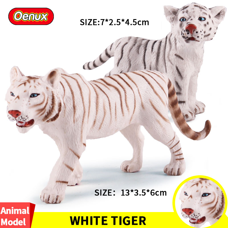 Oenux Standing Figures Tiger Model-Collection-Toys Simulation-Animals Wild-Jungle-Zoo